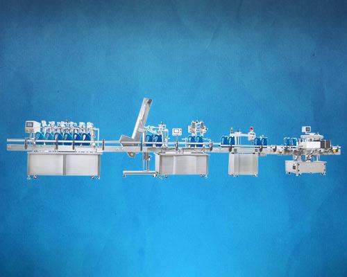 全自动直线式润滑油灌装生产线