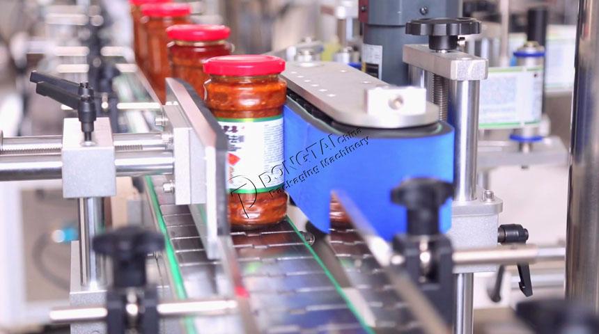 全自动辣椒酱类酱体灌装生产线细节展示