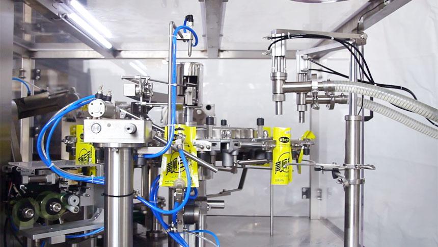 全自动给袋式液体酱体包装机