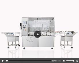 全自动液体灌装旋盖一体机视频